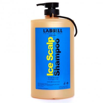 4x Labbell ICE Scalp Cooling Mint Shampoo 3000ml